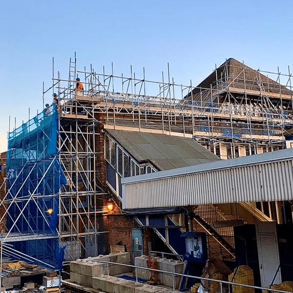 rail scaffolding