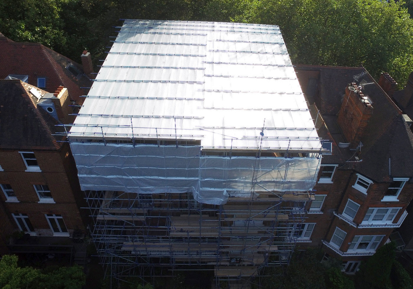 Temporary Roof Scaffolding