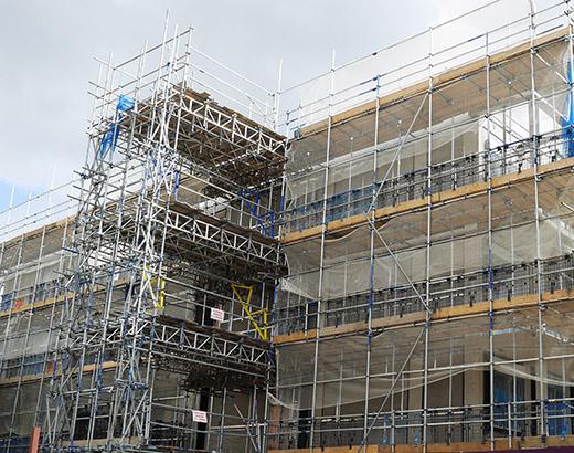 asbestos safe commercial scaffolding